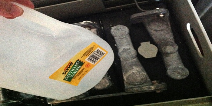use distilled water for car battery