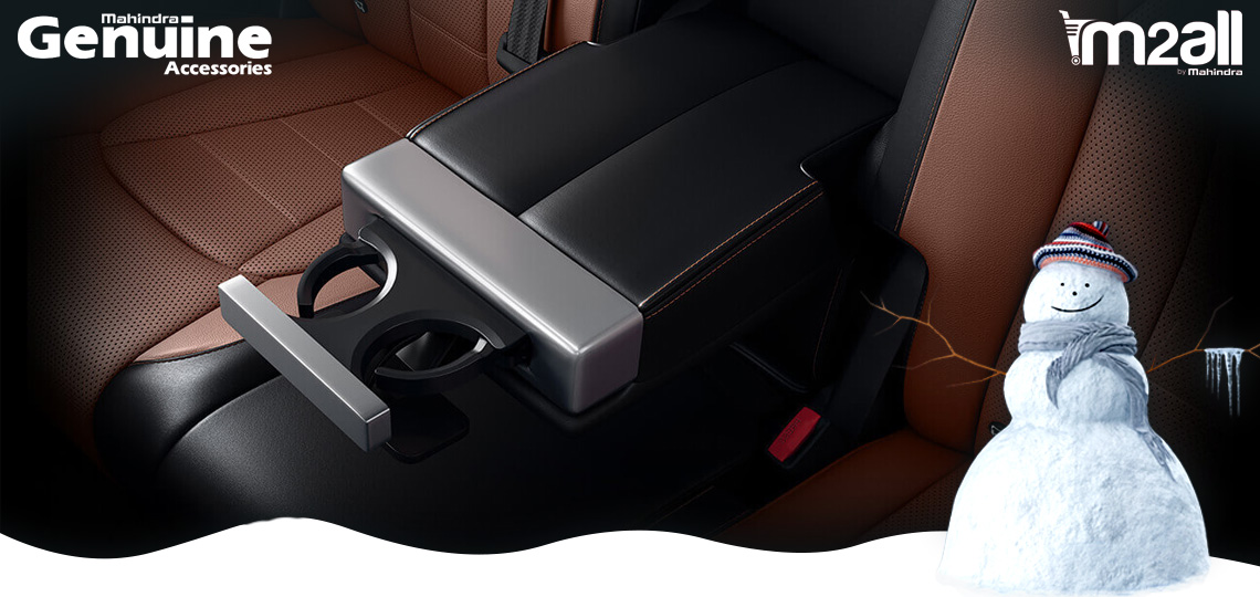 Car Rear Armrest with Cup Holder - M2ALL