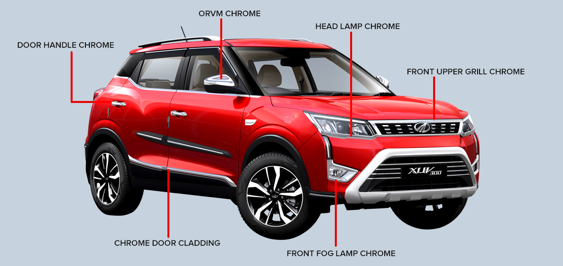 Chrome Accessories Mahindra SUV - M2ALL