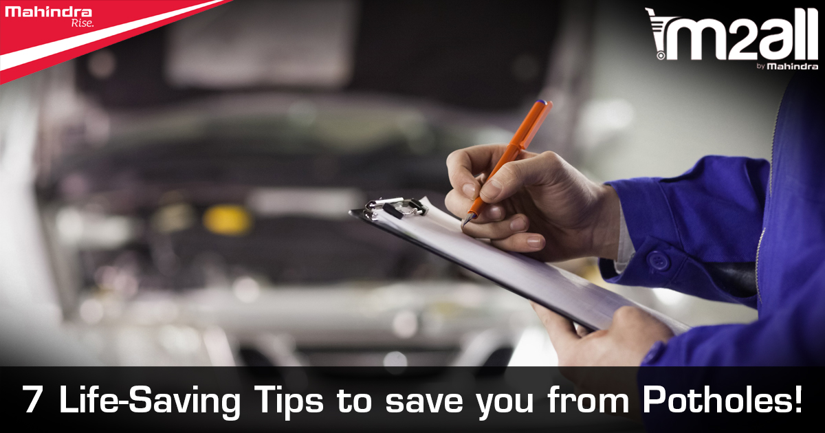 Tips to Save your Car From Potholes - M2ALL