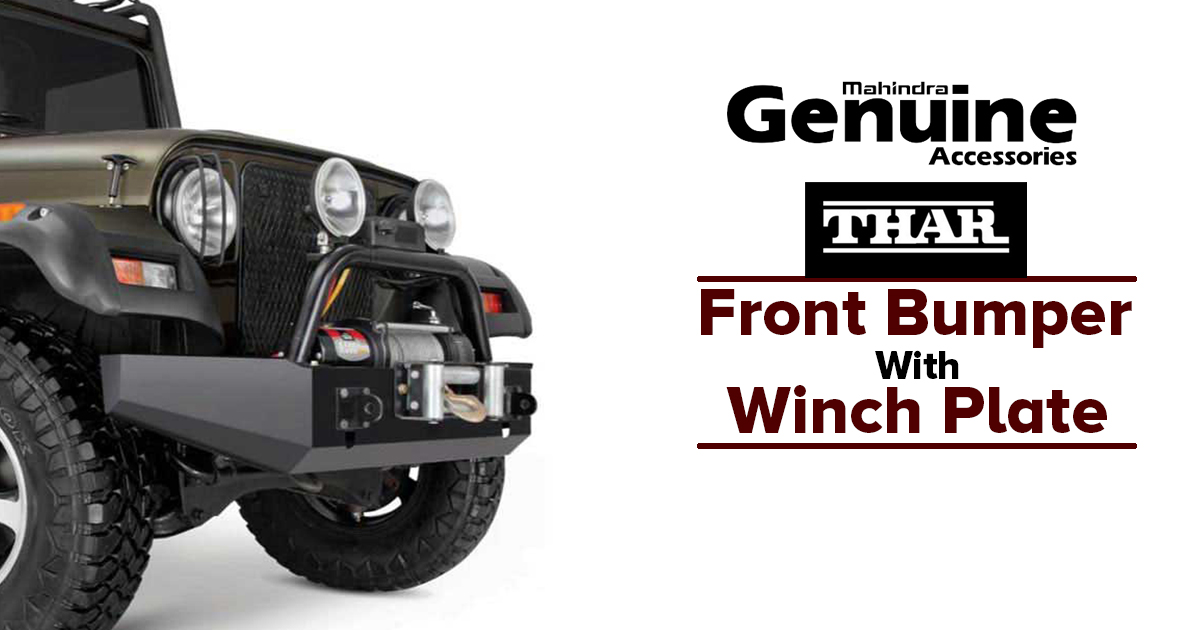 Thar Front Bumper with Winch Plate - M2ALL